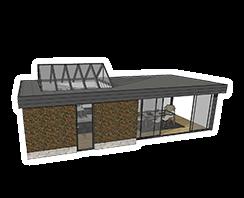 Realiseer veranda in 3D