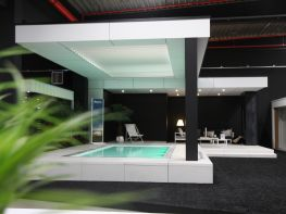Poolhouse Trespa in showroom Veranclassic te Dottenijs