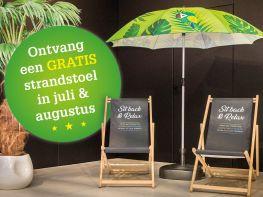 Gratis strandstoel in juli en augustus bij Veranclassic