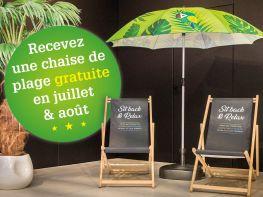 Chaise de Plage Gratuite en Juillet et Août chez Veranclassic