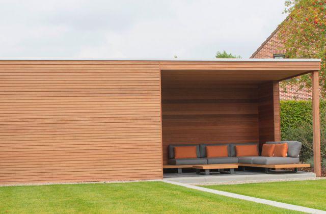 Veranclassic optez pour une construction en bois sur for Abri bois moderne