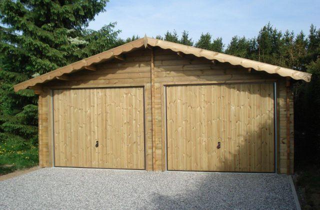 Double garage classique sur mesure