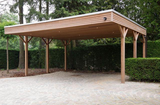 Carport en bois exotique