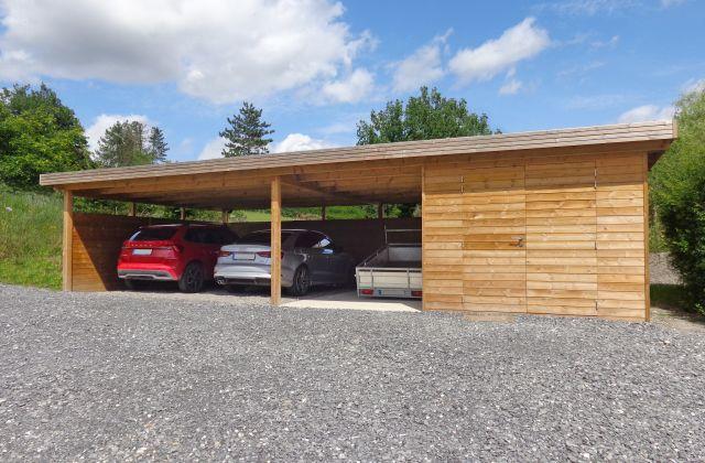 Carport en Bois Moderne Indépedant avec Débarras