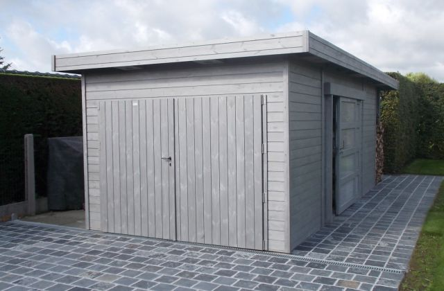 Garage moderne à toit plat