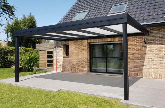 Moderne aluminium terrasoverkapping