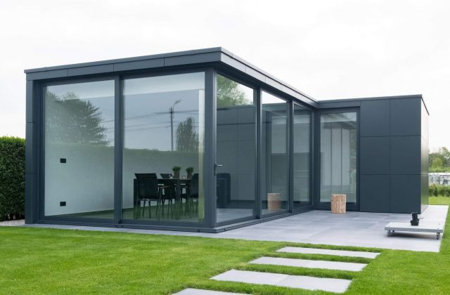 Poolhouse op maat in Trespa