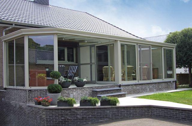 Veranda-pergola intégrée à l'habitation