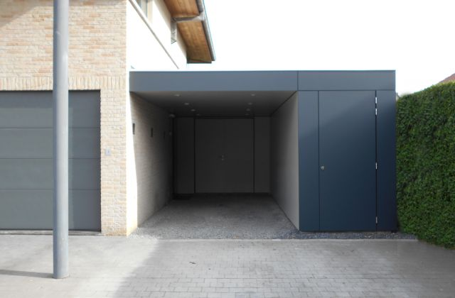 Moderne Carport volledig in Trespa