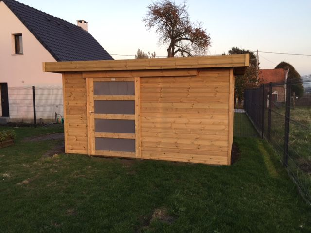 Veranclassic t moignage carport moderne adoss avec abri - Carport avec abri de jardin integre ...
