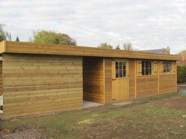 Carport en tuinhuis in hout op maat