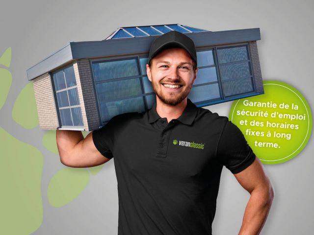 Poseurs vérandas & extensions de maison en aluminium (H/F)