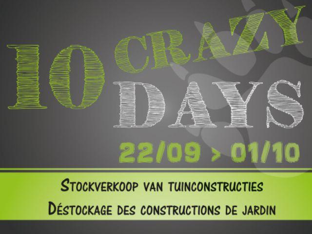 10 zotte dagen stockverkoop tuinconstructies