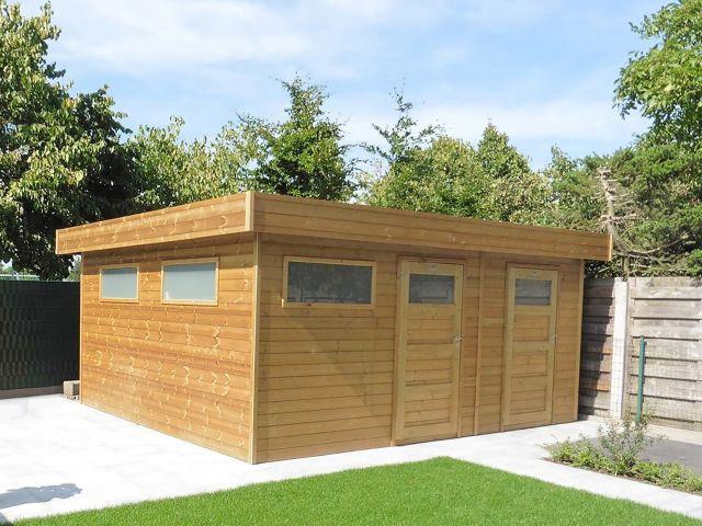 Modern houten tuinhuis