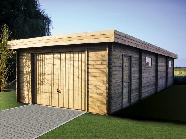 Alleenstaande houten garage