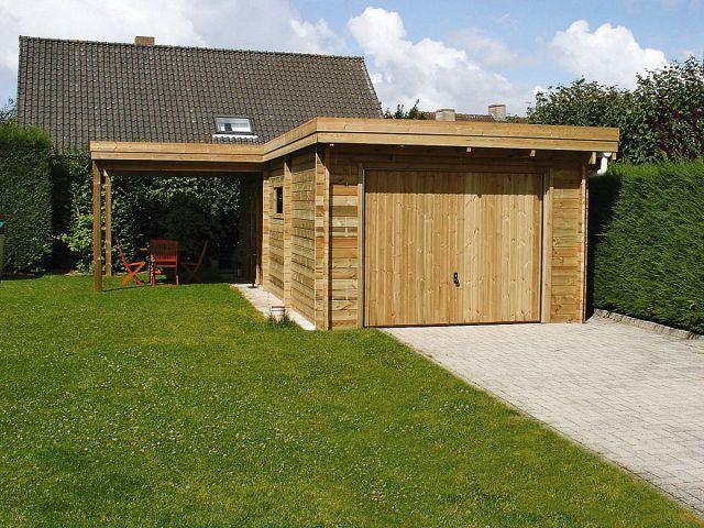 Moderne garage met overkapping