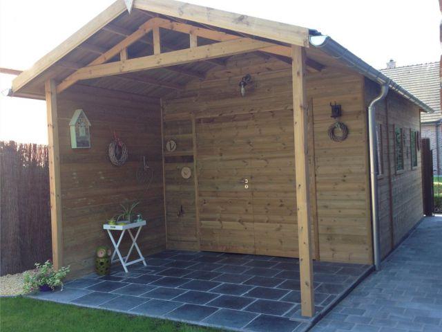 klassiek tuinhuis met overkapping | Houtsoort 'Noorse Den'