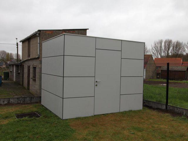 Tuinhuis cube in Trespa