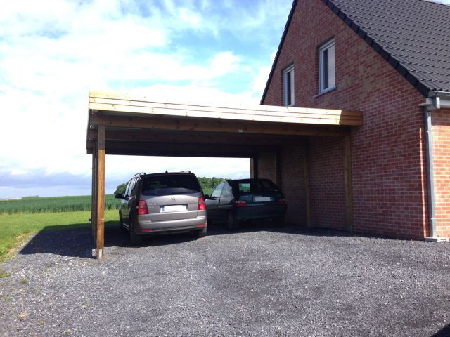 Un carport en bois de 1 re qualit veranclassic - Carport double adosse ...