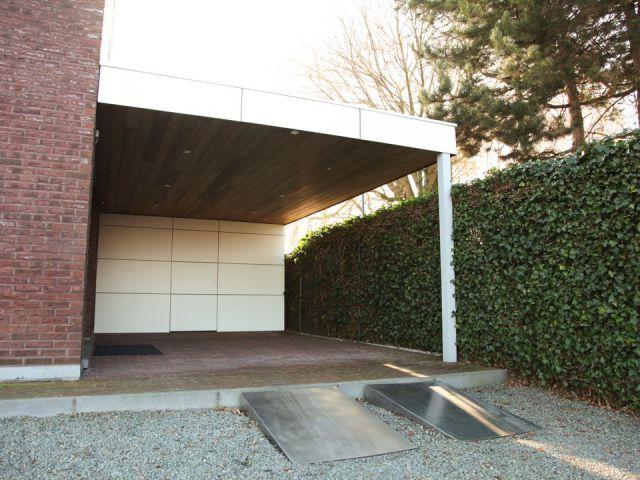 Carport met plat dak