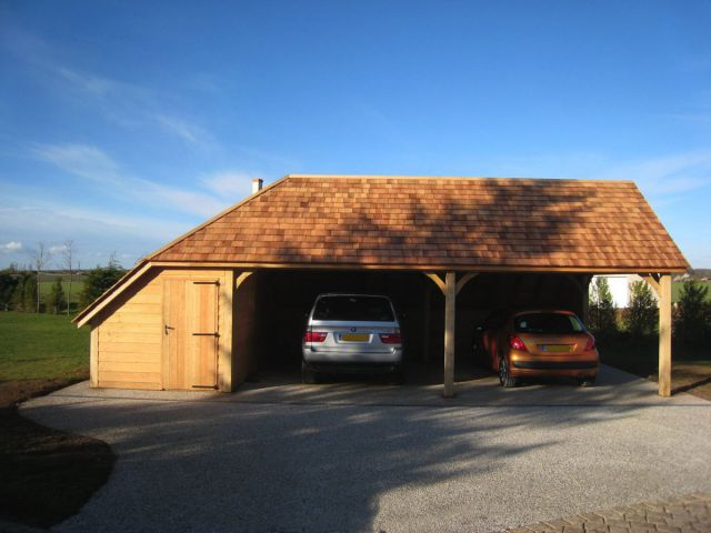 Carport in cottage stijl