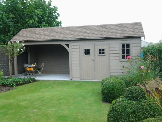 Cottage abri de jardin avec pergola