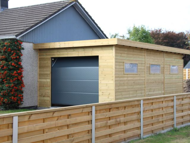 Houten Garage Kopen : Veranclassic een houten garage op maat van de beste kwaliteit