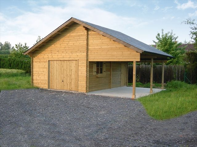 Garage classique avec Carport intégré