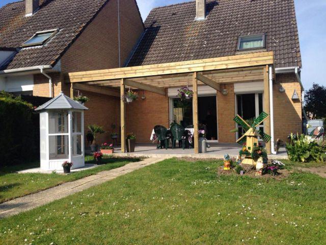 Toiture de terrasse en bois à toit plat