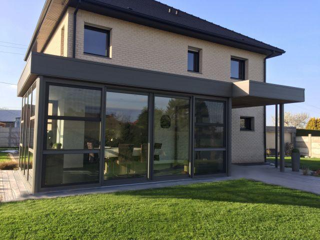 Veranda-pergola en aluminium