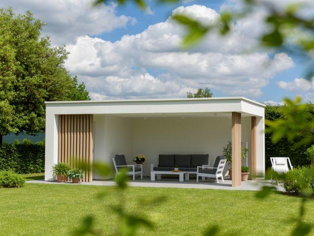 Moderne Poolhouse in Crepi en Irokohout
