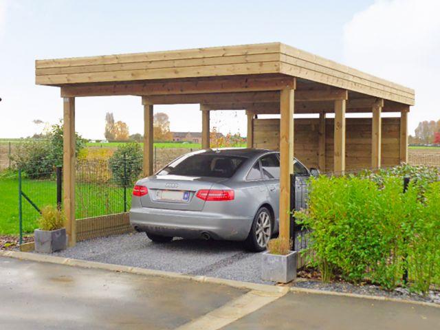 Losstaande moderne Carport