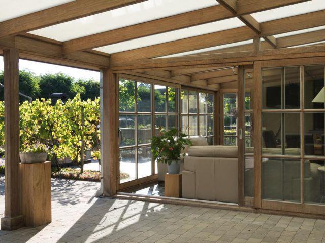 Pergola hout kopen gallery of aanbouw thermohout geel with