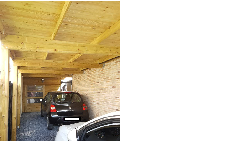 Finition du carport