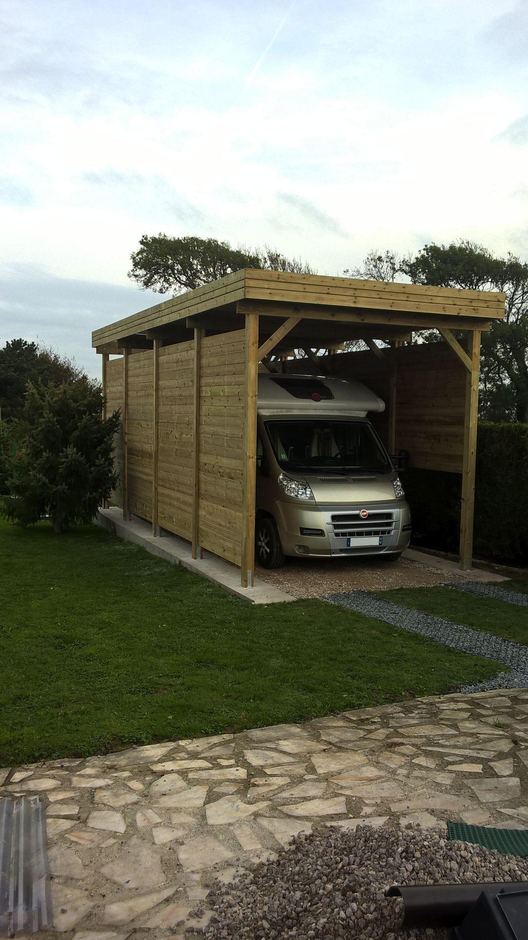 Carport sur mesure pour mobilhome-camping car