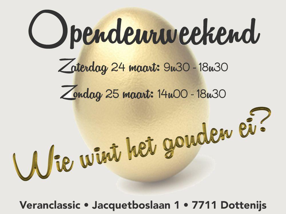 Opendeurweekend 24 en 25 maart