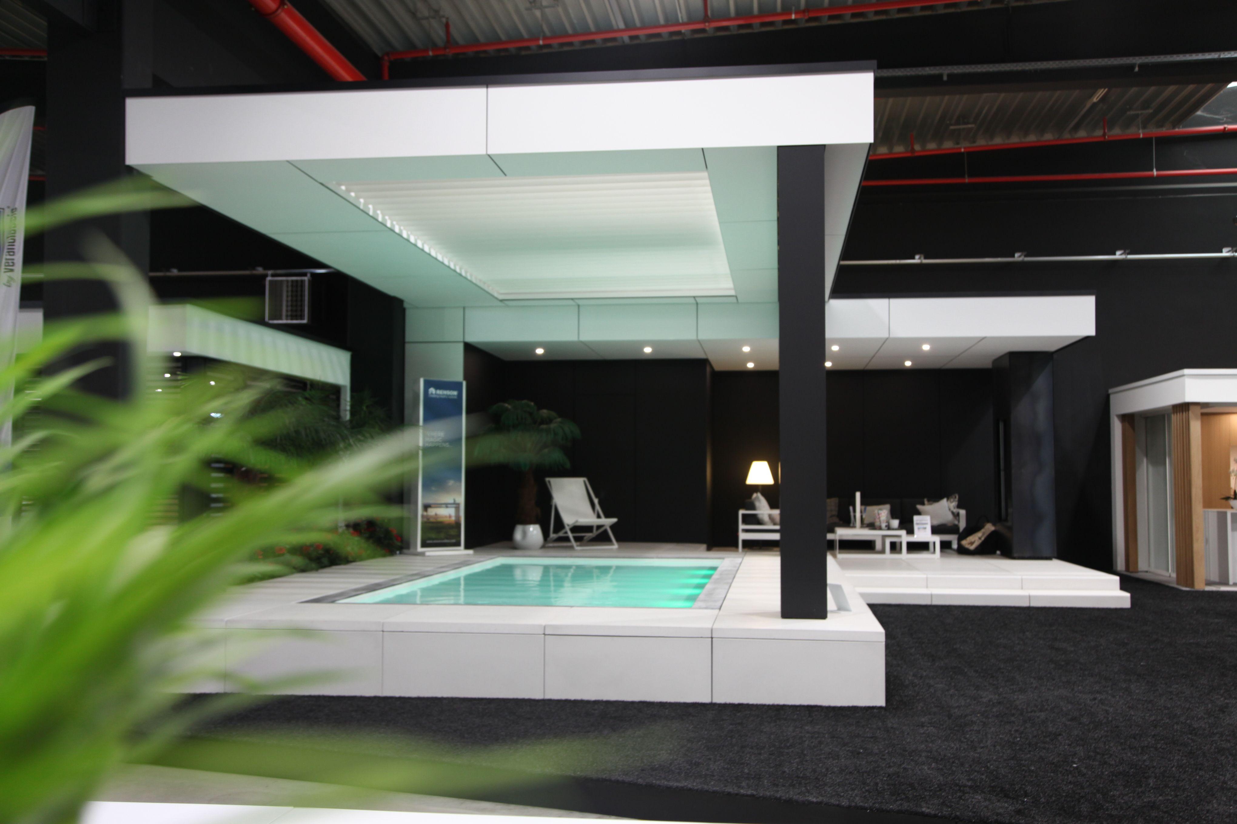 Poolhouse Trespa in showroom Veranclassic te Dottenijs