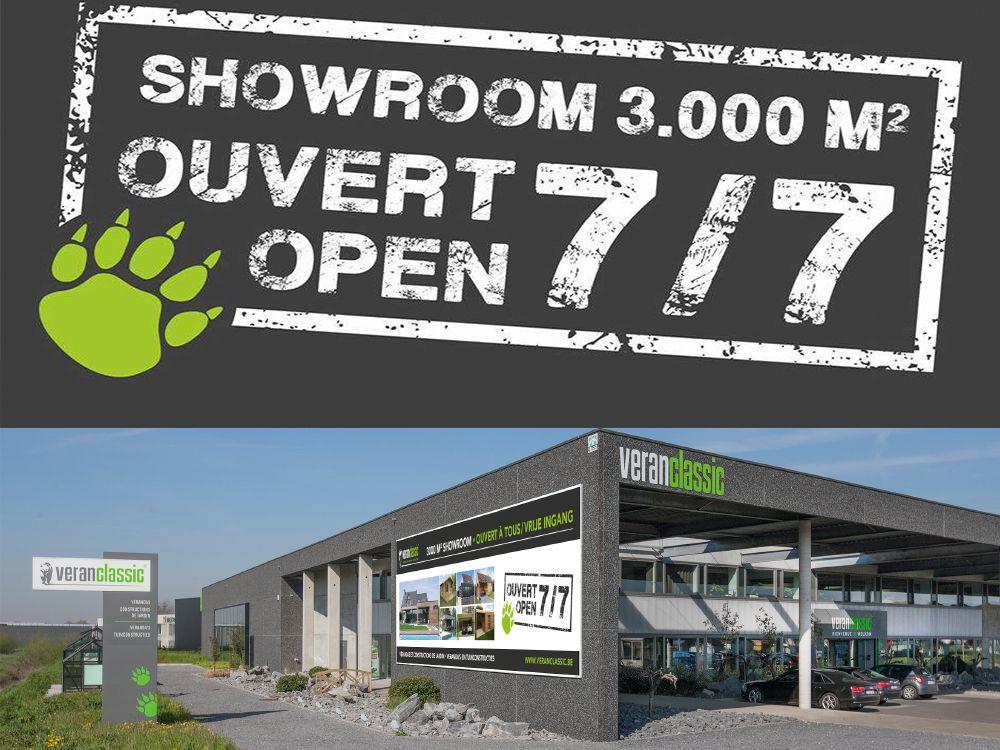 Showroom blijft open