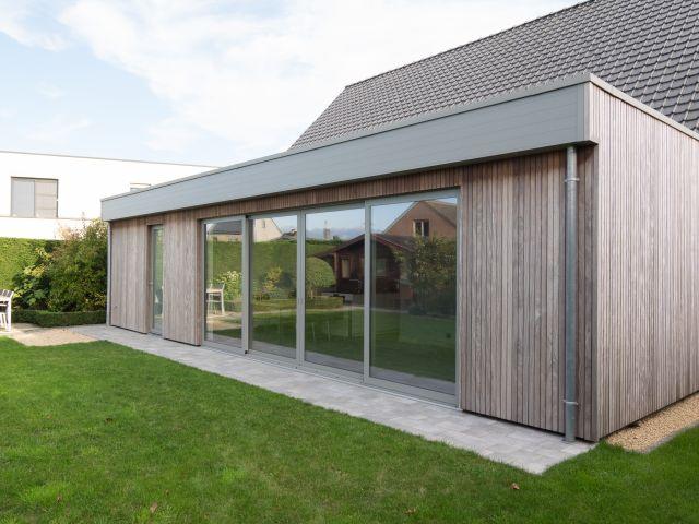 Veranda in aluminium en Moabi-hardhout