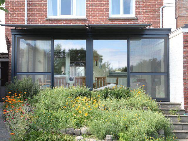 Aluminium veranda met plat dak
