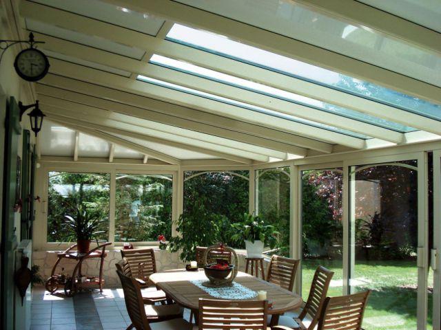 Klassieke aluminium veranda