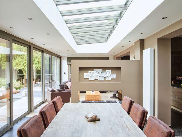 Extension véranda moderne à toit plat