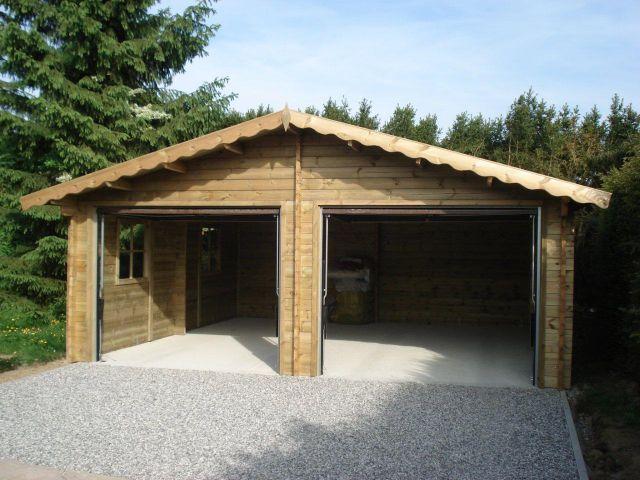 Double garage classique à double pente