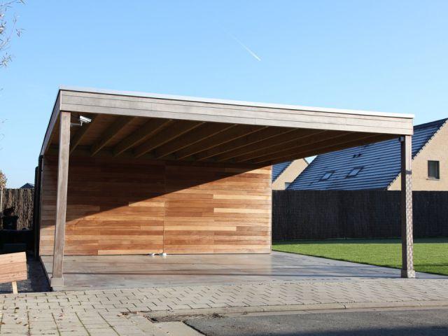 Double carport en bois exotique