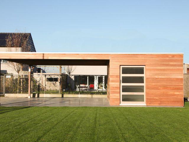 Carport moderne en bois sur mesure