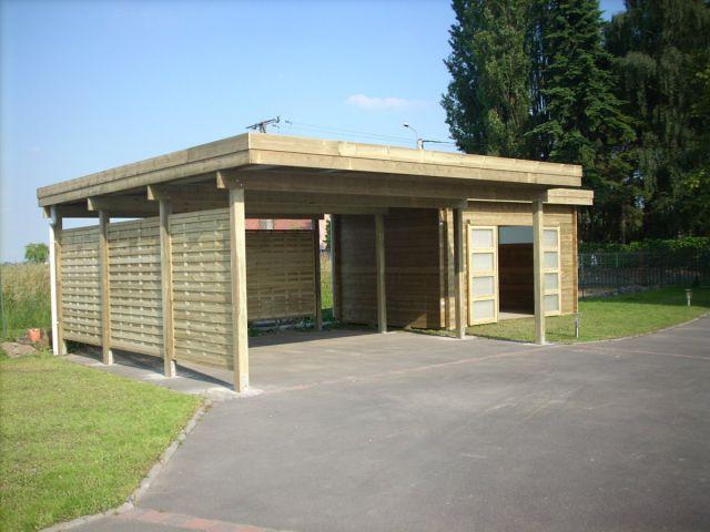 Moderne losstaande carport