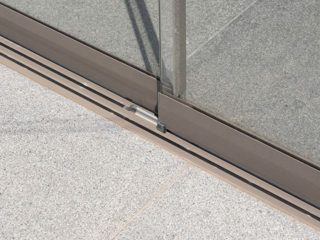 Detail Sunflex Schuiframen Moderne Poolhouse