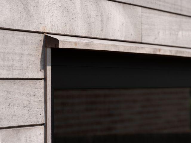 Tuinhuis in Iroko detail druiprand