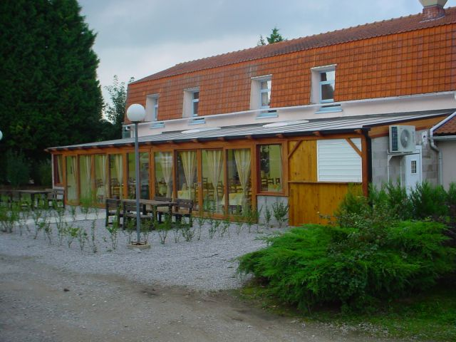 Veranda voor restaurant