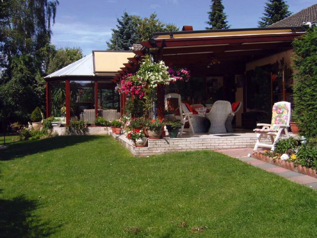 Klassieke veranda-pergola